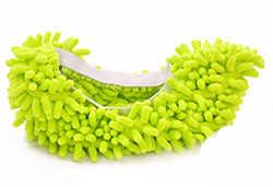 Zapatillas de fibra multifuncional cubiertas de zapatos de limpieza zapatillas perezoso zapatos de arrastre tapas de fregona herramientas para el hogar