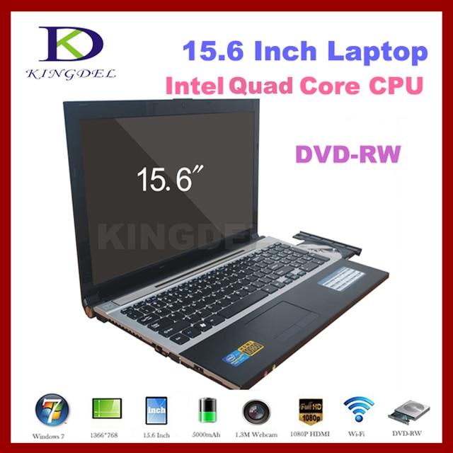 15.6 дюймов портативный ноутбук Celeron J1900 Четырехъядерный ПРОЦЕССОР 8 Г RAM + 1 Т HDD, DVD-RW, Bluetooth, 1080 P HDMI