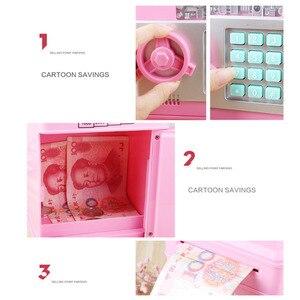 Image 3 - Elektronik kumbara ATM şifre para kutusu nakit para tasarrufu kutusu ATM banka kasa otomatik kasa banknot noel hediyesi