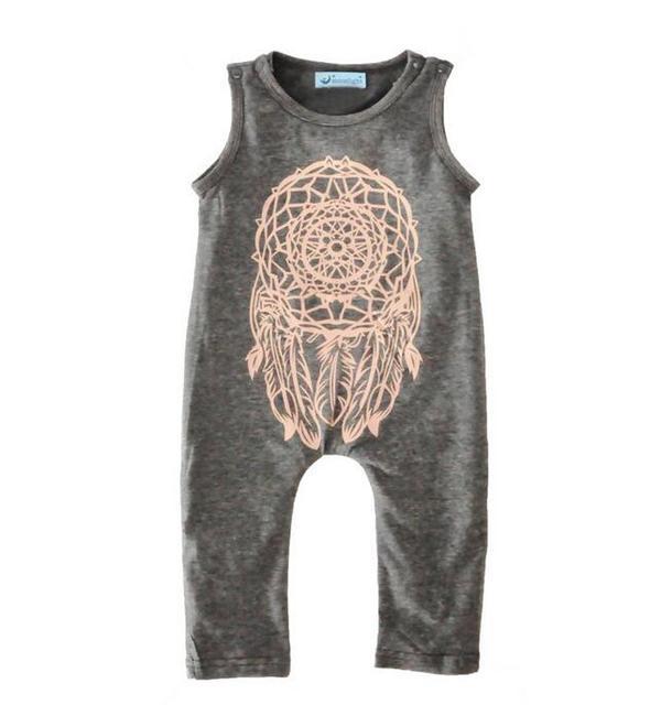 5f1a77805 4pcs lot girls jumpsuit kids clothes children clothing dreamcatcher ...