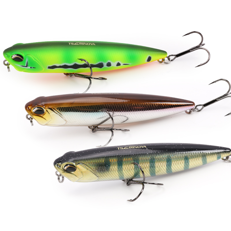 Trulinoya fishing lure floating pencil for sea fishing 2 sizes 10g 21g pencil lure Bait fishing tackle Sharp quality Hook model fishing lure wood pencil bait 120g 24cm floating sea fishing bait laser painted boat fishing lure 1 pcs lot