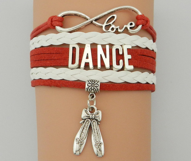 Drop Shipping Infinity Love Dance Bracelet S Belly Shoes Leather Multilayer Charm Bangles