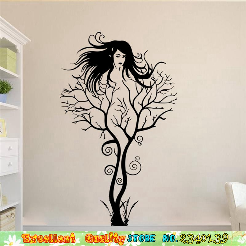 Aliexpress.com : Buy Sexy Naked Girl Tree Wall Stickers Modern Artistic Wall  Art Stickers DIY Home Living Room Bedroom Decoration Vinyl Wall Stickers  From ... Part 62