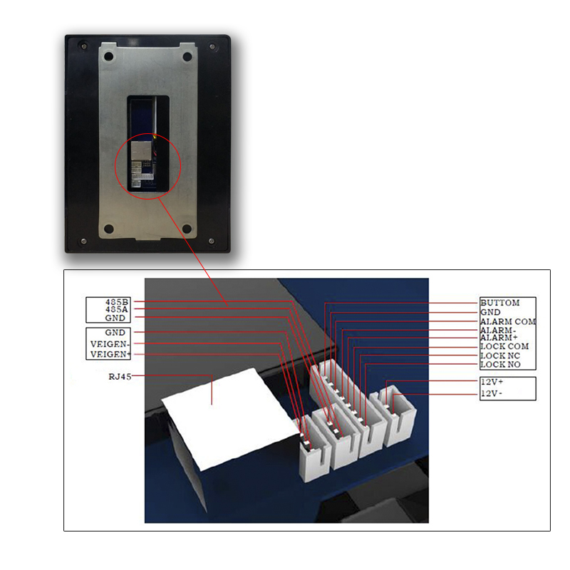 US $357 0 |Android Time Attendance Biometric Fingerprint NFC Reader With  Camera Access Control Door Lock Function For Office HR Management-in