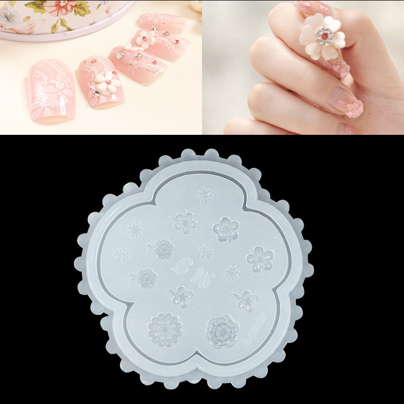 Image 2 - 1PC Nail Art Silicone Mold Stars Moon Mickey Mouse Rabbit Flower Shapes More Style Nail Glue Diy Manicure Nail Art Decorations-in Nail Art Templates from Beauty & Health