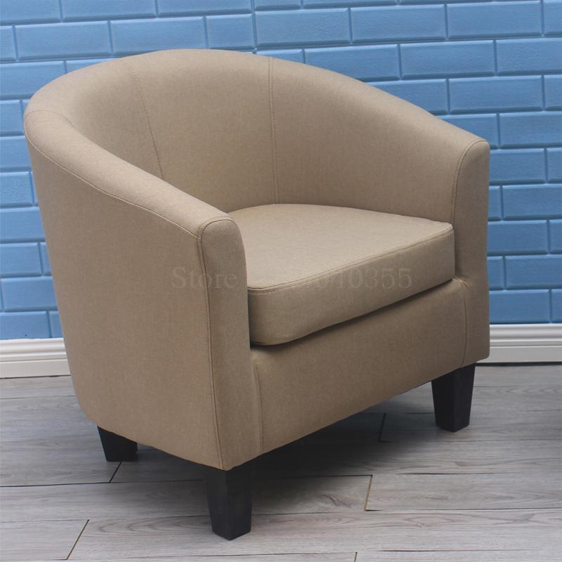 Европейский тканевая одноместная Софа стул интернет кафе кофе небольшой диван гостиничная комната кабинет компьютерный диван стул - Цвет: VIP 9
