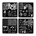 New Square 20 Styles Nail Art Stamp Stamping Plate 6cm Polish Design Print Manicure Nail Template Christmas Gift