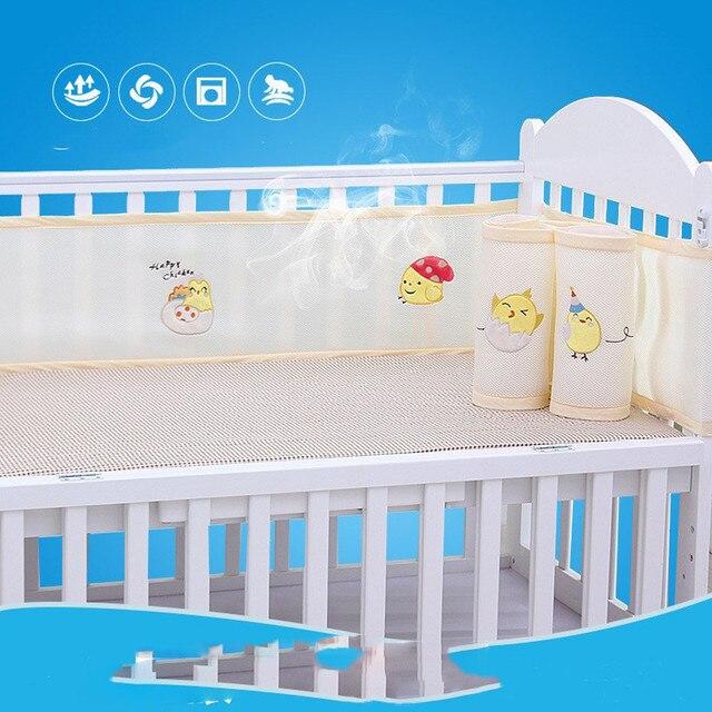 2019 Home Essentials Are Most Useful Breathable Crib Bumper Grey Mesh Crib Bumper for Full-Size Crib Breathable Mesh DropShippin