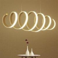 Nordic волны светодио дный LED светильник акриловый подвесной Белый Люстра Потолочный подвесной светильник светильники для кухня приглушить н