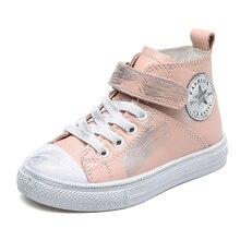 Маленьких мальчиков кожаные кроссовки ботильоны на плоской подошве черного и белого цвета для девочек розовые кроссовки натуральная кожа резиновая подошва 2018
