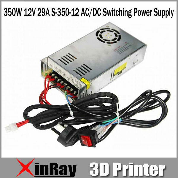 Free Shipping Hot Selling 350W 12V 29A S-350-12 AC/DC Switching Power Supply 3d Printer Accessories GT047