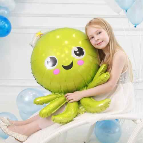 1 pcs Sea Theme บอลลูน ocean สัตว์ฟอยล์บอลลูน Mermaid shark ปลา octopus สำหรับปาร์ตี้ฝักบัวเด็กวันเกิดตกแต่งเด็กของเล่น
