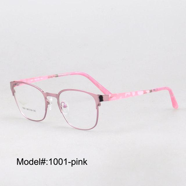 MX 1001 nueva llegada unisex borde completo marcos ópticos del metal con el templo ultem miopía gafas gafas graduadas
