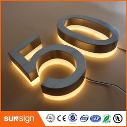 Warm wit Led Licht Outdoor Rvs LED Doorplate Lamp Huis Nummer & letters Licht Appartement Nummer Licht