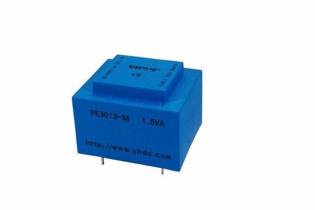 Transformateur encapsulé de la puissance 1.5VA 220 V/6 V de YHDC PE3013-M pour le transformateur d'isolement monté par carte PCB