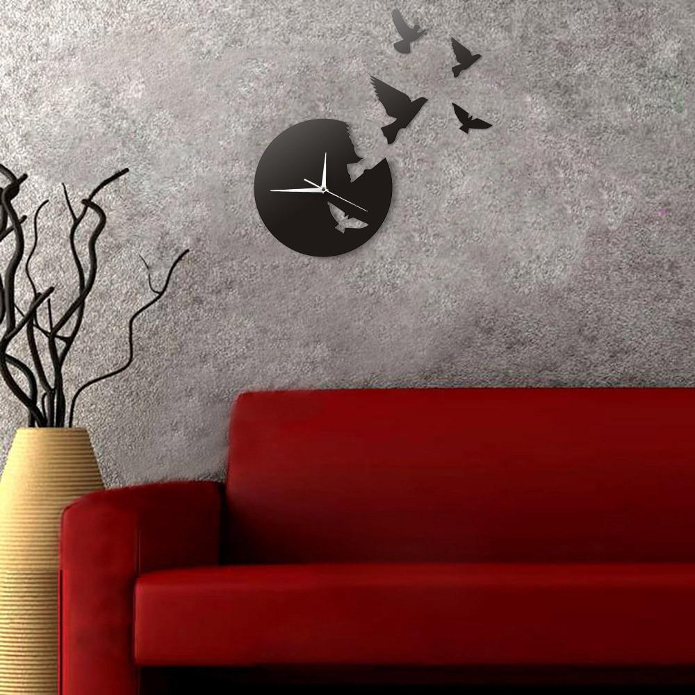 1 buah Peri Malaikat Terbang Dinding Seni Jam Kupu-kupu Terbang Dan Angel  3D Jam Dinding Modern Desain Kamar Bayi dekorasiUSD 19.99 Potongan b523b973fc