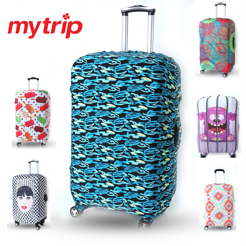 Creative Printed Elastic Polyester Travel Luggage Cover for 19 30inch suitcase Protective Cover Travel Trunk Dirt