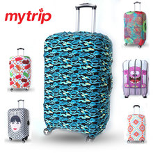 Creative Printed Elastic Polyester Travel Luggage Cover for 19-30inch suitcase Protective Cover Travel Trunk Dirt-Proof