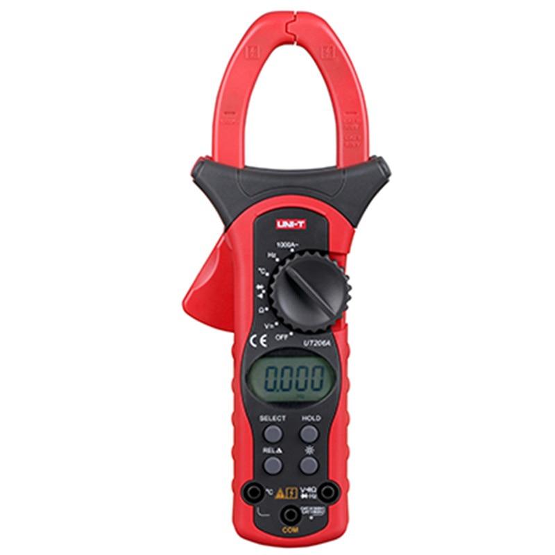 UNI-T UT206A pince de courant à courant alternatif pince de courant automatique prise de date AC/DC pince mètre lcd mini multimètre pince