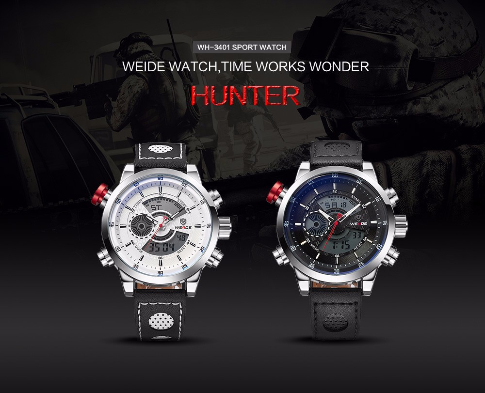 Weide WH3401 Sport Watch 3ATM Quartz Digital