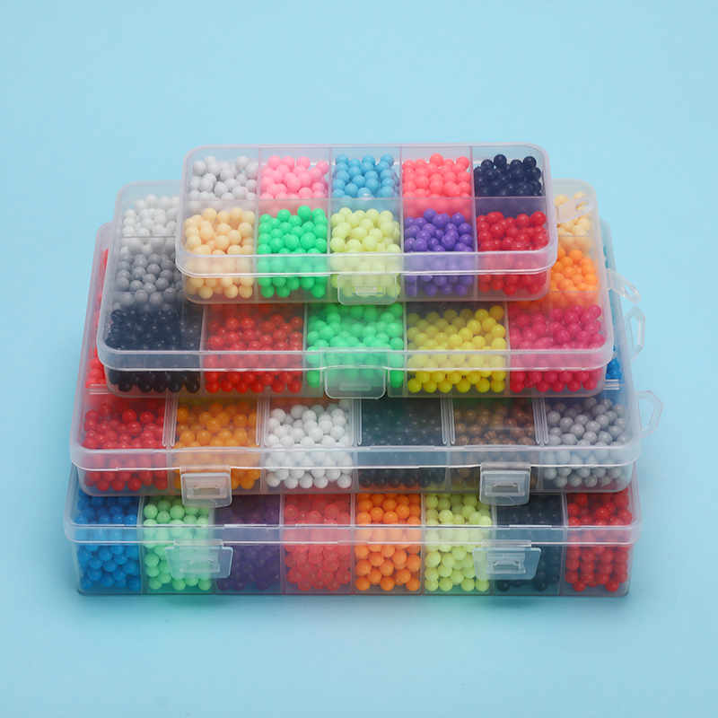 5200pcs Water Fog Bead Toy Children Hand-adhesive Beads Set DIY Craft Animal  Puzzle Toy Multicolor
