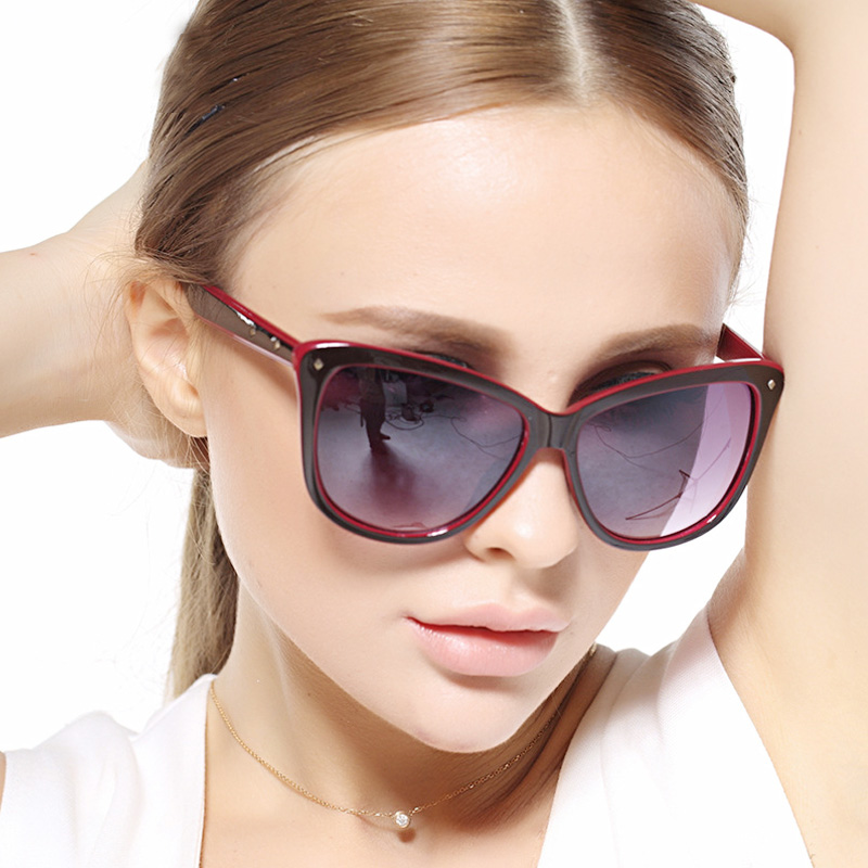 Women fashion UV Butterfly sunglasses cat eye glas...