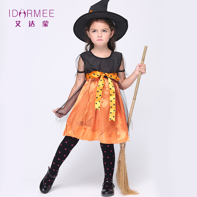 Superb IDARMEE Naughty But Nice Witch Costume For Kids Dress Halloween Costume For  Kids Cosplay Clothing For Girls 3 11Years S9015