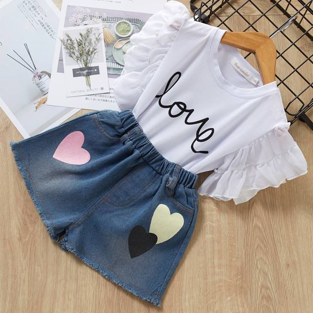 Girls' Bright Cotton T-Shirt and Shorts