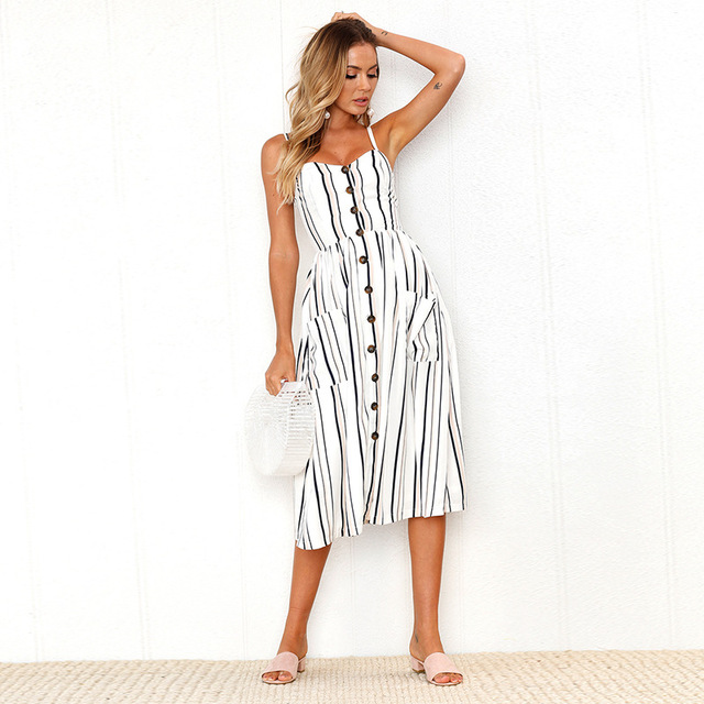 Casual Sundress With Button-Up Front 5