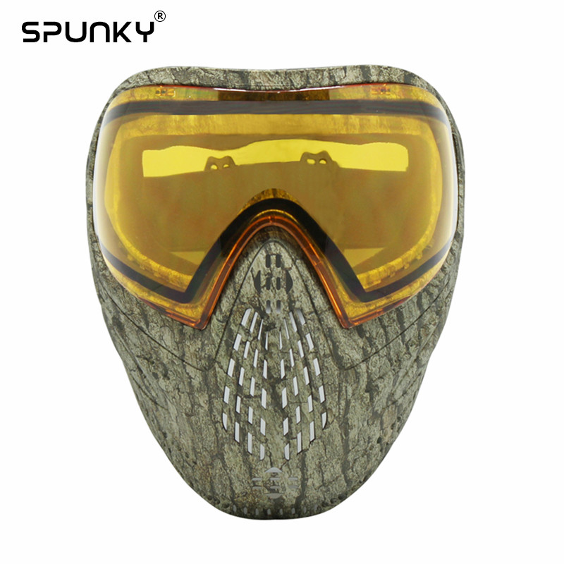 GREAT Grassland Camo Tactical Military PAINTBALL MASK DYE I4 Dual Lenses Goggle