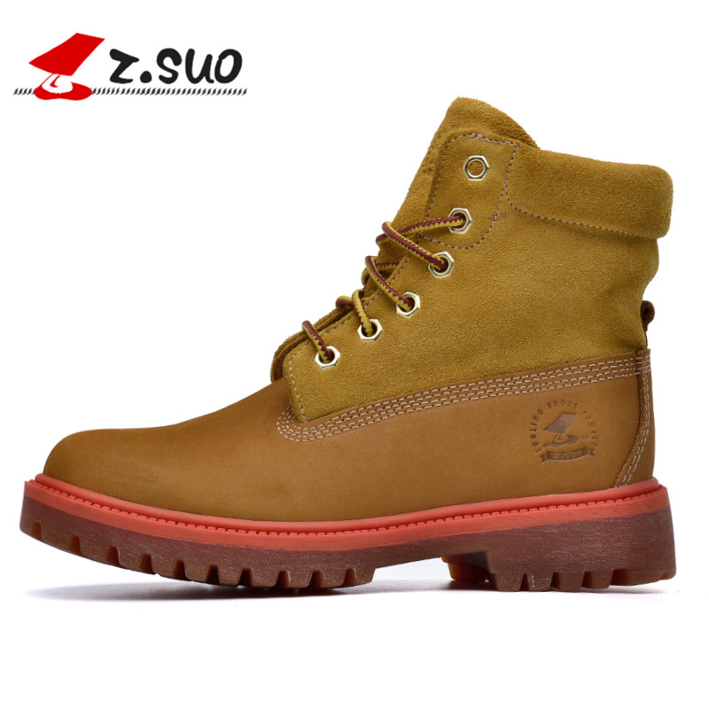 womens boots, fashion lady boots, winter leisure boots woman head layer cowhide, botas mujer botte femme