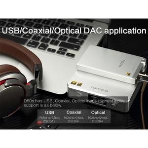Image 5 - TOPPING D50S USB DAC Dual ES9038Q2M Bluetooth 5.0 HiFi Audio Desktop Decoder Hi res PCM 32bit/768k DSD512 LDAC/AAC/SBC/aptX