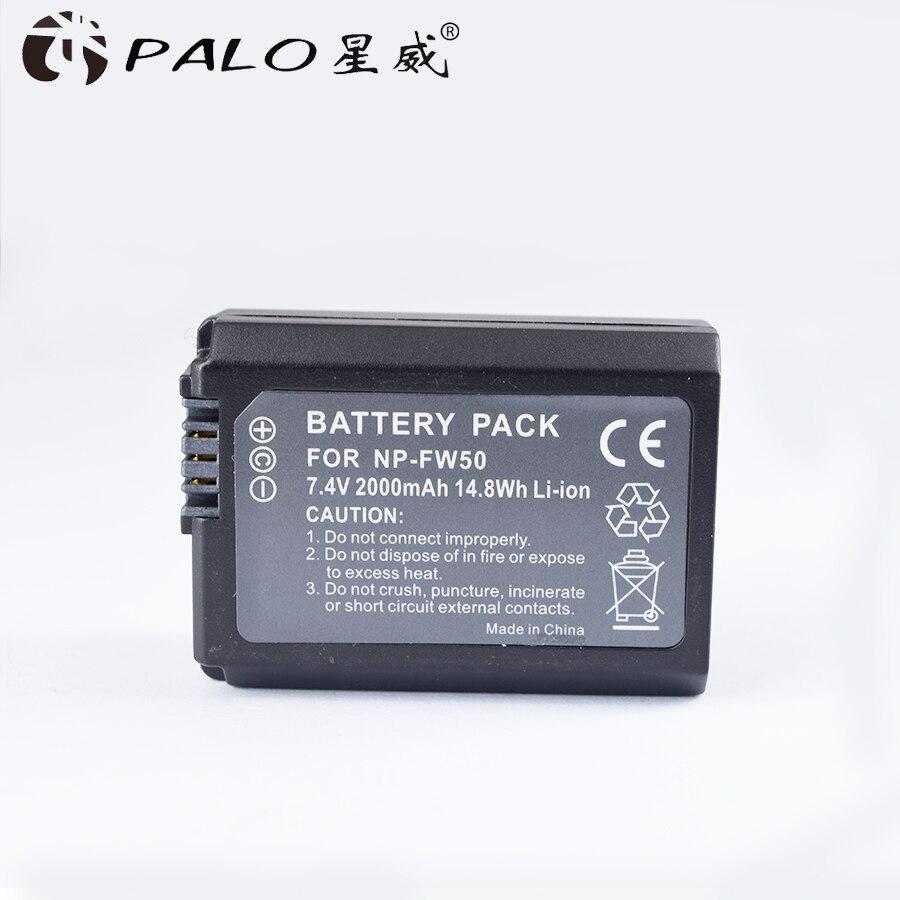 1 unid 7,4 V 2000 mAh NP-FW50 NP FW50 NPFW50 reemplazo de la batería para Sony Alpha 7 A7 7R a7R 7 s a7S a3000 a5000 a6000 NEX-5N 5C A55