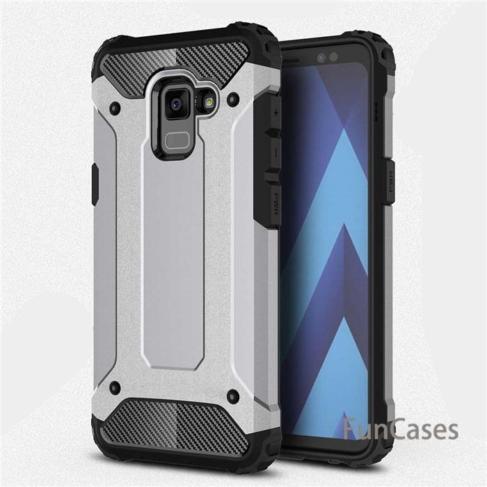 Pour Samsung Galaxy A8 2018 cas Hybride Armure En Caoutchouc PC Gel TPU Étui de protection Pour A8 Plus 2018 Antichoc en silicone couverture Capa