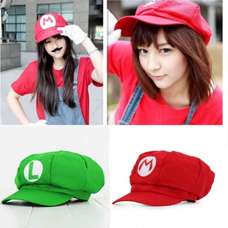 Super Mary Wholesale Cosplay  MARIO COS Clothes Halloween Costumes Hat  5 colors
