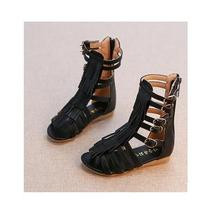 2019 Summer Girls Sandals Soft Leather Fashion Roman Girls Shoes Kids Gladiator Sandals Toddler Baby Sandals High Quality Shoes