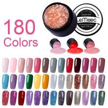 LEMOOC Starry Painting Nail Gel 180 Colors 5ml Pink Color Varnish Nail Art Salon Soak Off UV LED Nail Art Design Drawing Gel цена