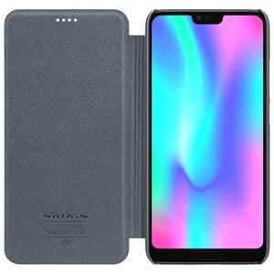 Image 3 - Huawei Onur Honor 10 için Kapak Kılıfı NILLKIN Sparkle Süper İnce Flip Case Kapak PU Deri Kılıf için Huawei Honor10 telefon Çanta Durumda