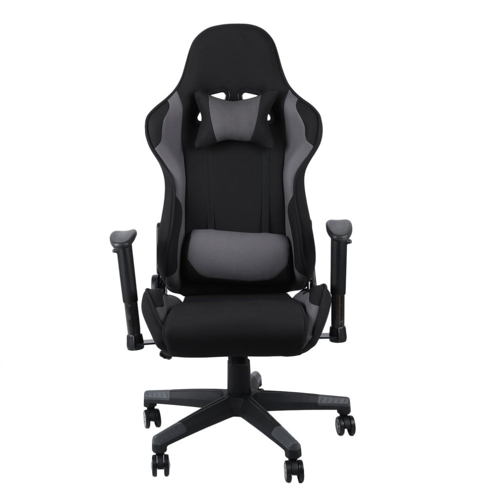 Racing Style Gaming Chair 360 Degree Swivel Office Chair Ergonomic High  Back Padded Lumbar Support Chairs Home Office Furniture
