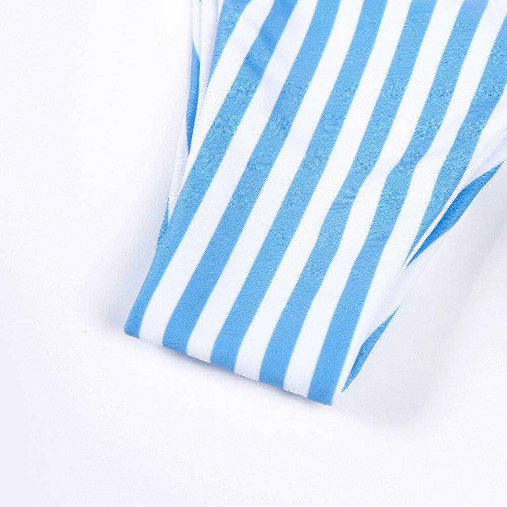 2019 Blue Stripe Bikini Split Sexy Cute Bikini two pieces swimsuit Beach Swimwear Women Bikini Set Bathing Suit swim biquini 5