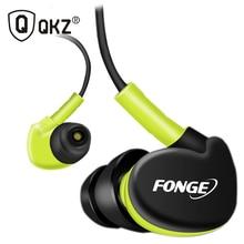QKZ F1 100% Original Sport in Ear Earphone Microphone 3.5mm HIFI Metal Stereo Earphones Super Bass Noise isolating Headphones