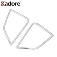 Car styling For Mitsubishi Eclipse Cross 2017 2019 Chrome Front Fog Light Cover Trims Head Fog Lamp Frame Auto Accessories Chromium Styling     -