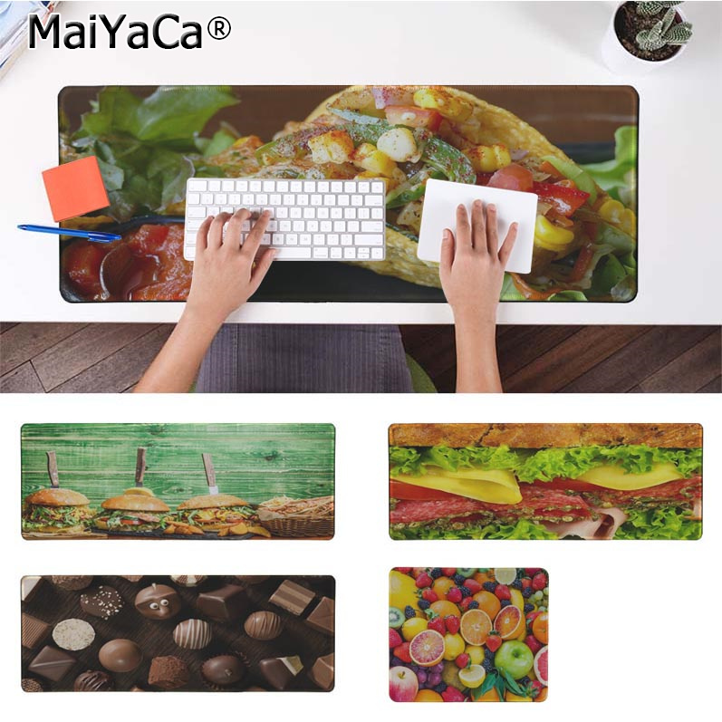 MaiYaCa Top Quality Gourmet Burger King Fruit Silicone large/small Pad to Mouse Game Free Shipping Large Keyboards Mat