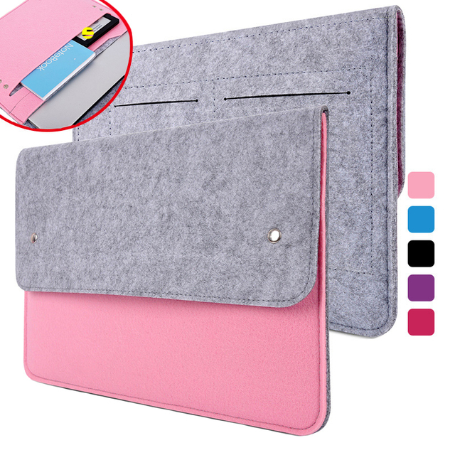 42270dba9589 Wool Felt Ultra-thin Slim Notebook Bag For Macbook Pro Retina 11 12 13 15  14 Sleeve Laptop Case For Xiaomi Air 13.3 15.6 Cover