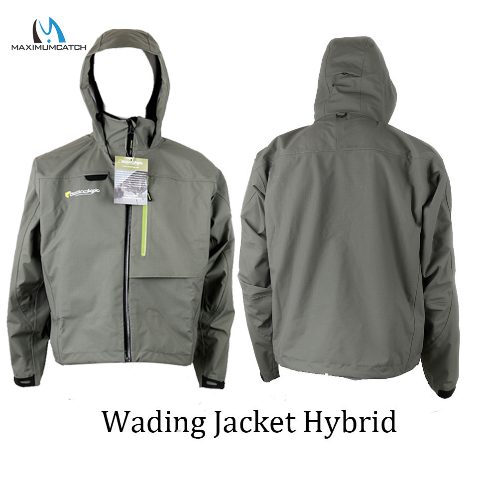 Maximumcatch Waterproof Fly Fishing Wading Jacket Breathable Wader Jacket Clothes M/L/XL outdoor waterproof camo fly fishing hunting breathable waders wading jacket tactical sniper suit clothing fishing clothes