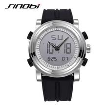 SINOBI sports Quartz digital watch with 2 movements, waterproof watch, male chronograph from the best luxury brand
