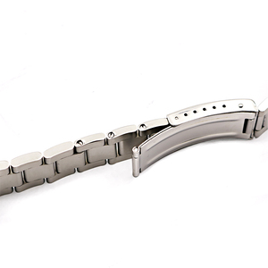 Image 5 - Rolamy Watch Band 17 18 19 20mm 316L Stainless Steel Silver Brushed Strap Old Style Oyster Bracelet Straight End Screw Links