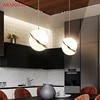 Nordic modern White ball bubble led pendant lights kitchen living room restaurant bedroom gold ring hanging lamp promo