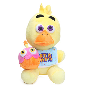 25cm Freddy Fazbear Plush Toys Golden Bear Nightmare Cupcake Foxy Balloon Boy Clown Stuffed Dolls 5