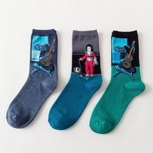 Breathable Cartoon Patterned Socks Cotton Colorful Crew Men  Casual Art Sock Hipster Happy Sox